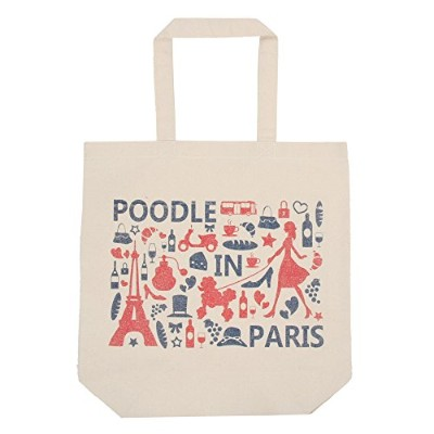 Poodle肩掛けトートバッグ POODLE IN PARIS(P002) (トリコロール)