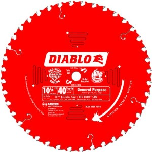 "Diablo Carbide Tipped Table, Miter, And Radial Arm Saw Blade-10-1/4"" 40T SAW BLA (並行輸入品)"