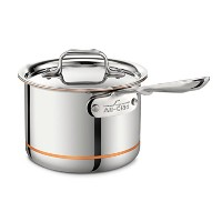 All-Clad 6202 SS Copper Core 5-Ply Bonded Dishwasher Safe Saucepan / Cookware, 2-Quart, Silver by...