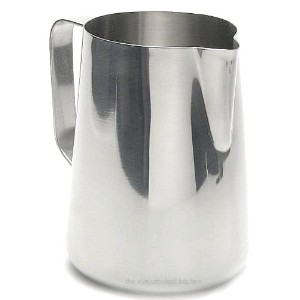 33 oz. Espresso Coffee Milk Frothing Pitcher, Stainless Steel (18/10 Gauge) (1, A) by Update International