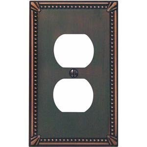 Imperial Bead Antique Bronze Outlet Wall Plate-AB OUTLET WALLPLATE (並行輸入品)