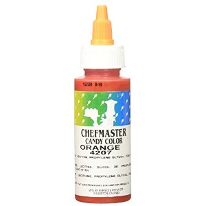 Chefmaster Liquid Candy Color, 2-Ounce, Orange by Chef-Master