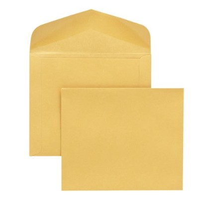 Open Side Booklet Envelope, Traditional, 15 x 10, Cameo Buff, 100/Box (並行輸入品)
