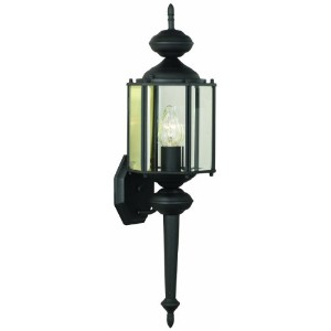 Thomas Lighting SL92437 Brentwood Collection 1 Light Outdoor Wall Sconce, Matte Black by Thomas...