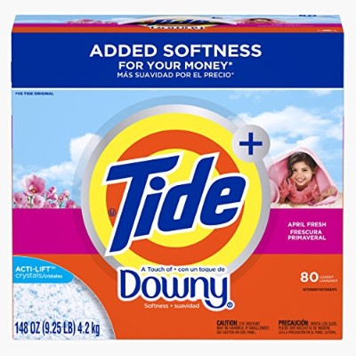 Tide Ultra Plus A Touch Of Downy April Fresh Scent Powder Laundry Detergent, 80 Loads, 148 oz by...