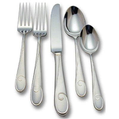 Waterford Ballet Ribbon Matte 18/10 Stainless Steel 5-Piece Place Setting, Service for 1 by...