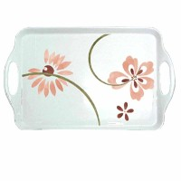 Corelle Coordinates Melamine Rectangular Tray, Pretty Pink by CORELLE