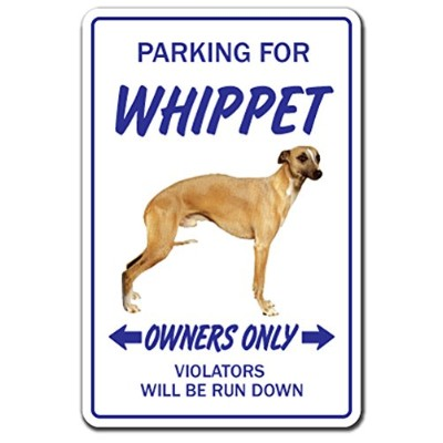 PARKING FOR WHIPPET OWNERS ONLY サインボード:ウィペット オーナー専用 駐車スペース 標識 看板 MADE IN U.S.A [並行輸入品]