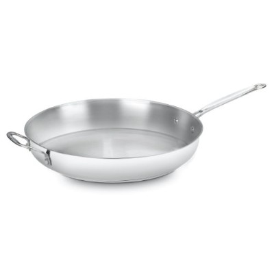 Cuisinart 722-36H Chef's Classic Stainless 14-Inch Open Skillet with Helper Handle by Cuisinart ...