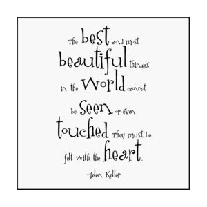 Best & Most Beautiful - Helen Keller Black and White Magnet by Quotable Cards