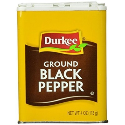 Durkee Pepper, Black Ground, 4-Ounce Tin by Durkee [並行輸入品]