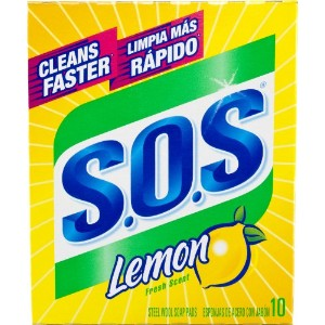 Clorox/Home Cleaning98034Lemon S.O.S Pads-10PK LEMON WOOL PAD (並行輸入品)