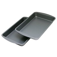 OvenStuff Non-Stick 10.9 Inch x 7 Inch Biscuit Brownie Pan Two Piece Set by OvenStuff
