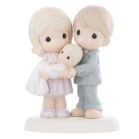 Precious Moments, Baptism Gifts, Grow In The Light Of His Love, Bisque Porcelain Figurine, #830014...