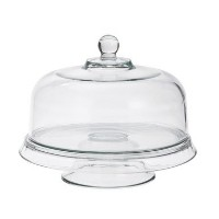 Anchor Hocking Presence 4-in-1 Glass Cake Set by Anchor Hocking