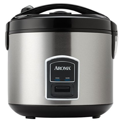 Aroma Housewares 20-Cup (Cooked) (10-Cup UNCOOKED) Cool Touch Rice Cooker and Food Steamer,...