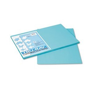Tru-Ray Construction Paper, 76 lbs., 12 x 18,Turquoise, 50 Sheets/Pack (並行輸入品)