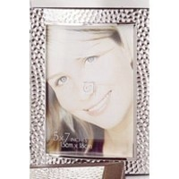 """Hammered Frame, 5"""" x 7"""" STAINLESS STEEL - Picture Frame by Elegance Silver [並行輸入品]"""