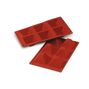 Silikomart SF007/C Silicone Classic Collection Mold Shapes, Pyramid, Large by Silikomart