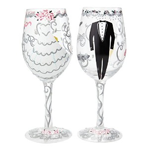Enesco(エネスコ) Lolita WINE GLASS SET BRIDE & GROOM SETW-5522A [並行輸入品]