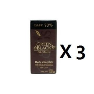 Green & Blacks Chocolate Block Organic Dark Chocolate 100g 3EA [海外直送] [並行輸入品]