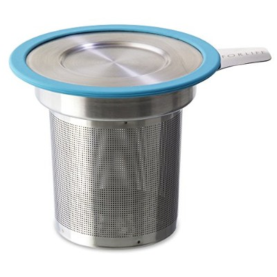 FORLIFE Brew-in-Mug Extra-Fine Tea Infuser with Lid, Turquoise by FORLIFE