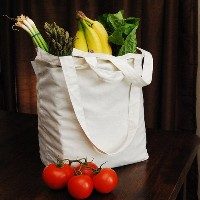 "Reusable Canvas Grocery Bag 14.5""X11.5""X6.5""-Natural (並行輸入品)"
