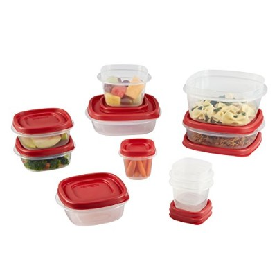 Rubbermaid Easy Find Lid Food Storage Container, BPA-Free Plastic, 20-Piece Set (1777172) by...