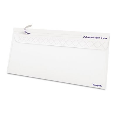 Gold Fibre SimplySafe Business Envelope, Self-Adhesive, White, 500/Box (並行輸入品)