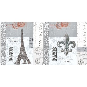 Paperproducts Design 25030 Gift Box Hard Backed Coaster Paris Eiffel Tower,Set of 4 by Paperproducts...