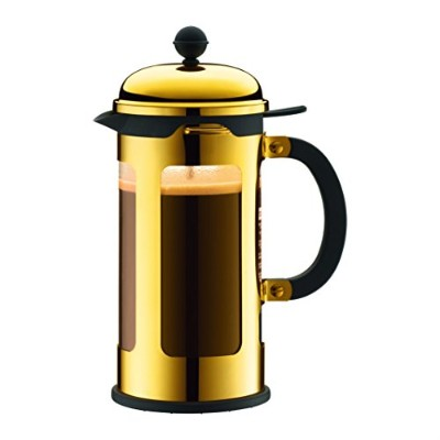 Bodum 11172-17 8 Cup Chambord French Press Coffee Maker, 34 oz, Gold by Bodum