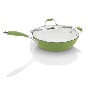 Michelle B. by Fagor Cast Iron Lite Fryer with Lid, Lemon Lime, 4.5-Quart by Michelle B. by Fagor