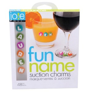 MSC 26737 Joie Fun Name Suction Drink and Wine Charm Set, 48-Piece by MSC