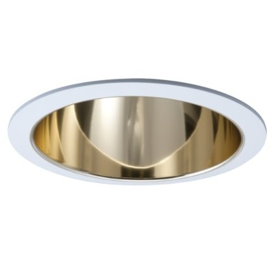 Halo Recessed 405RG 6-Inch Socket Supporting Trim with Residential Gold Reflector by Halo Recessed