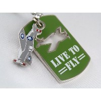 Dog Tag Necklace (ネックレス)(グリーン)