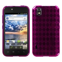 Asmyna LGLS855CASKCA063 Argyle Slim and Durable Protective Cover for LG: LS855 (Marquee) - 1 Pack -...