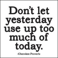 MX23 Quotable Magnet- Don't Let Yesterday... by Quotable Cards