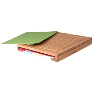 BergHoff Studio - Cutting Board Set - 5 Pieces Including Bamboo Board 40x 34x 4.5cm and 4x...