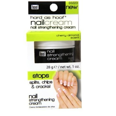 Hard As Hoof Nail Strengthening Cream w/ Cherry Almond Scent 1 Oz By Hoof - Nail Strengthener &...