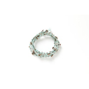WAKAMI(ワカミ)ネックレス/ブレスレット 2WAY仕様 フェアトレード商品 LIFE IS WHAT-LONG NECKLACE TEAL&SILVER/BROWN&SILVER/BLACK...