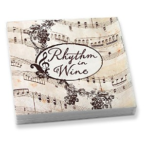 Epic Products Rhythm in Wine Beverage Napkins (20 Pack), Multicolor by Epic