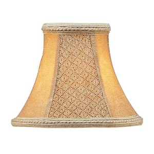 Livex Lighting S120 Bell Clip Chandelier Shade, Tan Suede by Livex Lighting