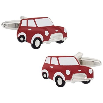 Cuff - Daddy Mini Cooper Cufflinks in Red withプレゼンテーションボックス