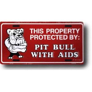 CMプレート / Pit Bull With Aids