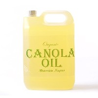 Mystic Moments | Canola (Rapeseed) Organic Carrier Oil - 5 Litres - 100% Pure