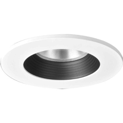 Halo Recessed TL403BBS 4-Inch LED Trim Shower Rated Solite Regressed Lens with Black Baffle...