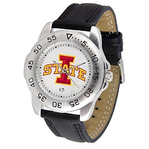 Iowa State Cyclones SuntimeメンズスポーツウォッチW /レザーBand – NCAA College Athletics