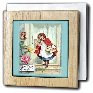フローレンVictorian – Victorian LittleレッドRiding Hood – タイルナプキンホルダー 6 inch tile napkin holder nh_59818_1
