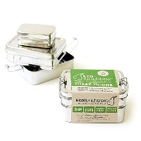 ECOlunchbox Three-in-One Stainless Steel Food Container Set [並行輸入品]