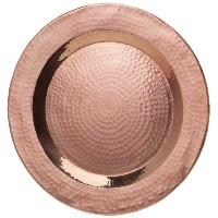 Sertodo Charger Plate, 12 inch round, Hammered Copper by Sertodo Copper